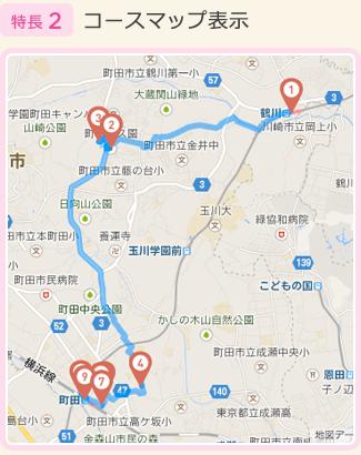 特長2:コースマップ表示