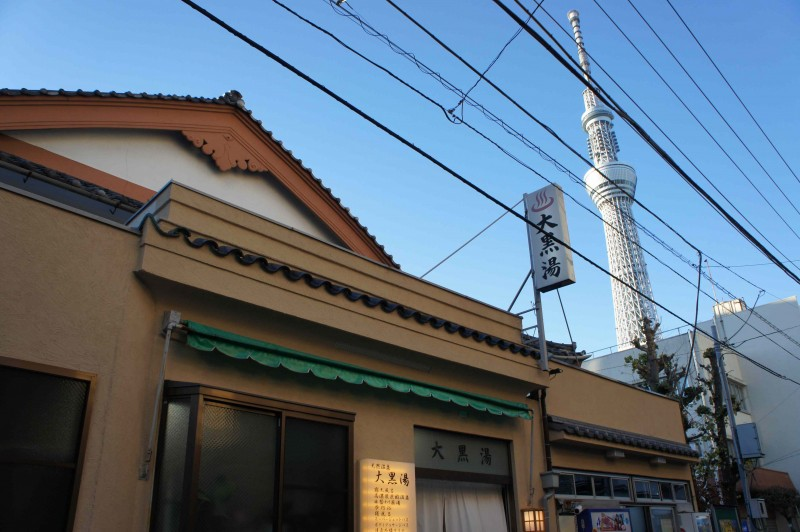 The Main Spot of Today: Daikoku-yu, Tokyo's Only Bathhouse Offering a Great View of Tokyo Skytree.