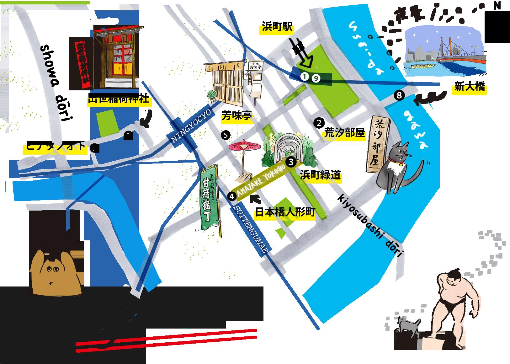 PC人形町MAP