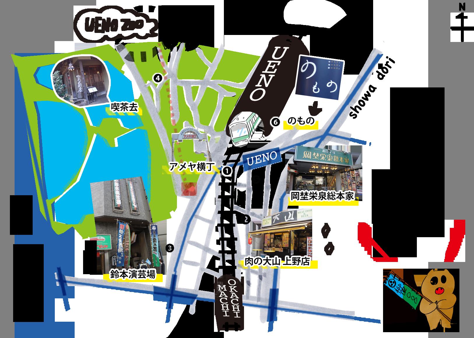 PC上野MAP